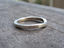Curved Wedding Band14K White Gold Recycled Gold Eco Friendly Contoured Band