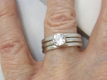 Moissanite Bridal Set Moissanaite Stacking Rings Forever One Moissanite