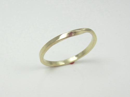 Skinny Solid Gold Mobius Strip Ring 14K Recycled Yellow Gold