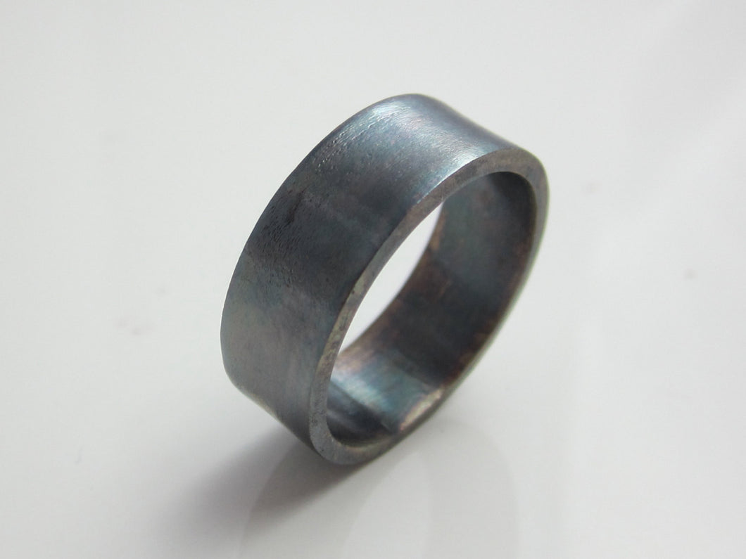 Wide Sterling Silver Band Recycled Oxidized Sterling Silver
