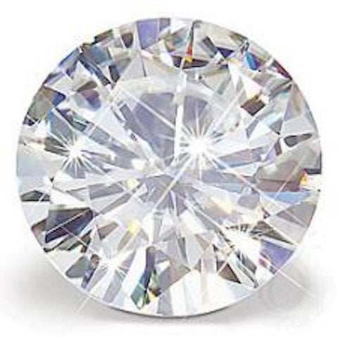 Forever One Round Cut Loose Moissanite Diamond Alternative