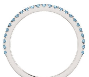 Blue Diamond Wedding Band