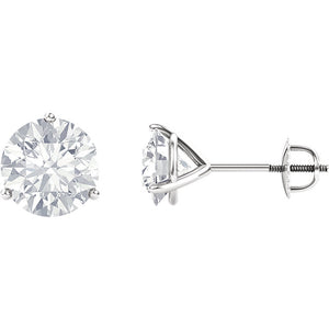 Forever One Moissanite Stud Earrings, 2 Carats, White Gold, Eco Friendly Bridal Jewelry