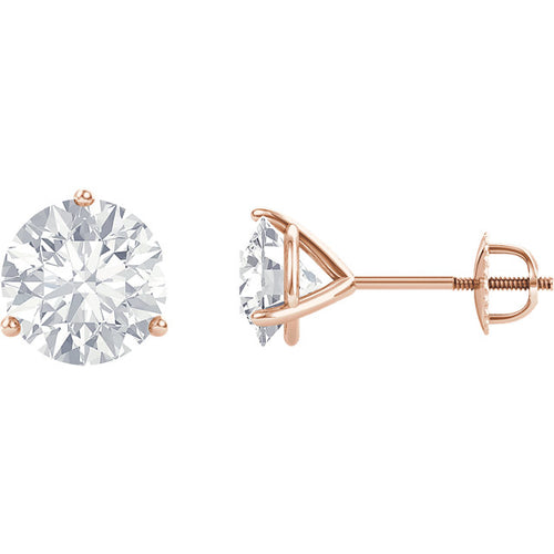 Moissanite Stud Earrings Martini Setting Stud Earrings