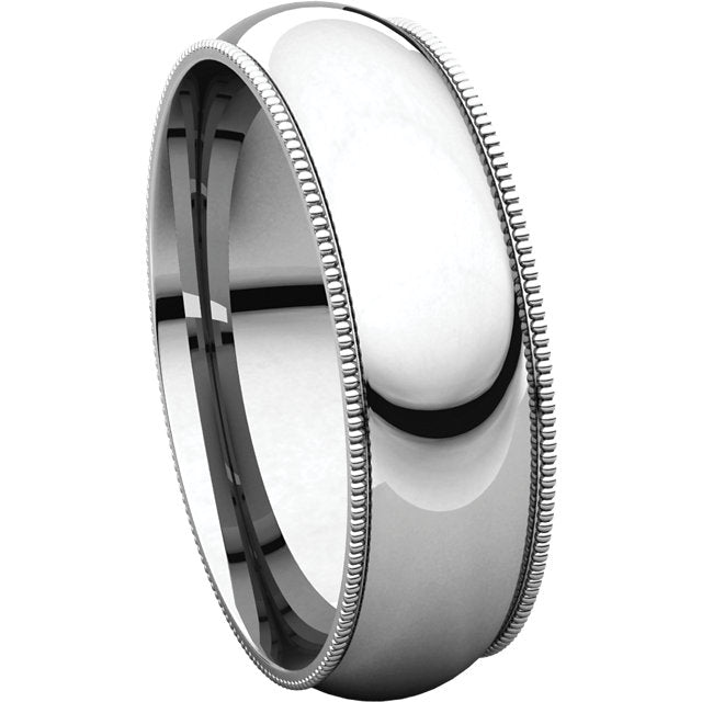 Men's Gold Milgrain Wedding Band