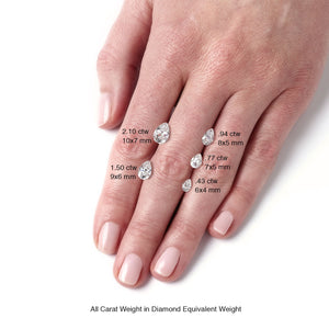 Loose Forever One Pear Shape Diamond Alternative