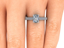 Elongated Cushion Cut Moissanite Engagement Ring