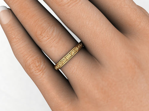 Unisex Wedding Band Recycled 18k Yellow Gold Platinum Rose Gold White Gold Palladium