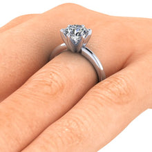 Classic Tiffany Style Setting Solitaire Engagement Ring 1.50 Carats Round Cut Forever One