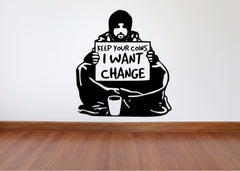 Banksy Inspired Wall Decals