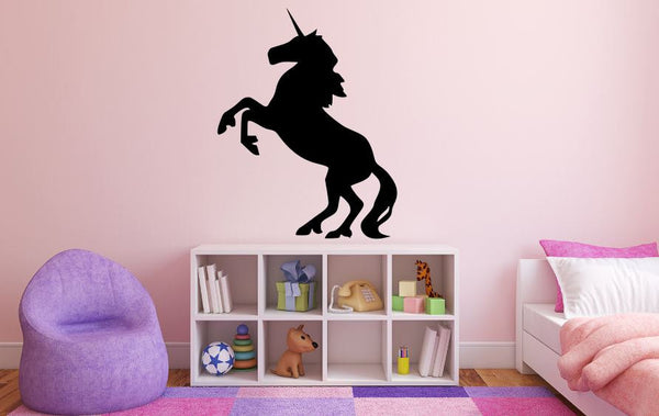 "Unicorn Wall Decal - 35"" x 27"" Unicorn Silhouette Vinyl Decal - Unicorn 3"