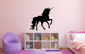 "Unicorn Wall Decal - 27"" x 29"" Unicorn Silhouette Vinyl Decal - Unicorn 4"