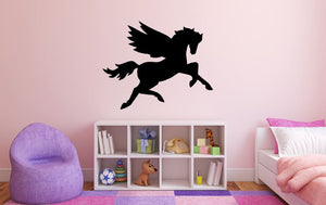 "Unicorn Wall Decal - 27"" x 34"" Unicorn Silhouette Vinyl Decal - Unicorn 8"