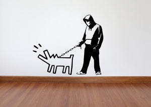 Banksy Wall Decal, Choose Your Weapon Inspired Removable Wall Decal