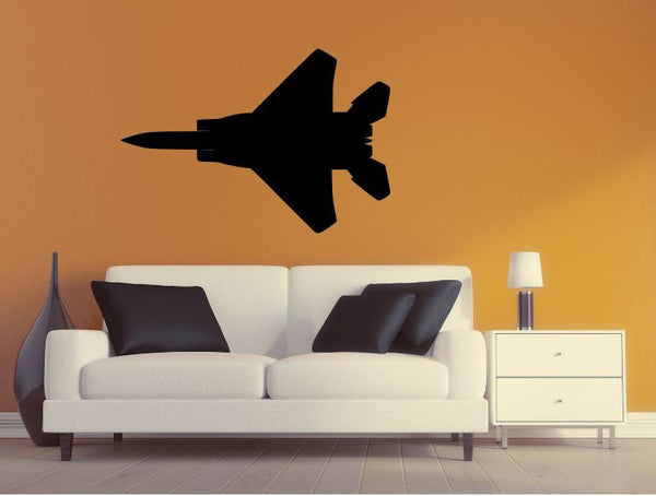 Military Plane Wall Decal - F15 Eagle Wall Silhouette Sticker - Airplane 5