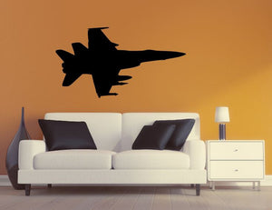 Military Plane Wall Decal - F22 Raptor Wall Silhouette Sticker - Airplane 7