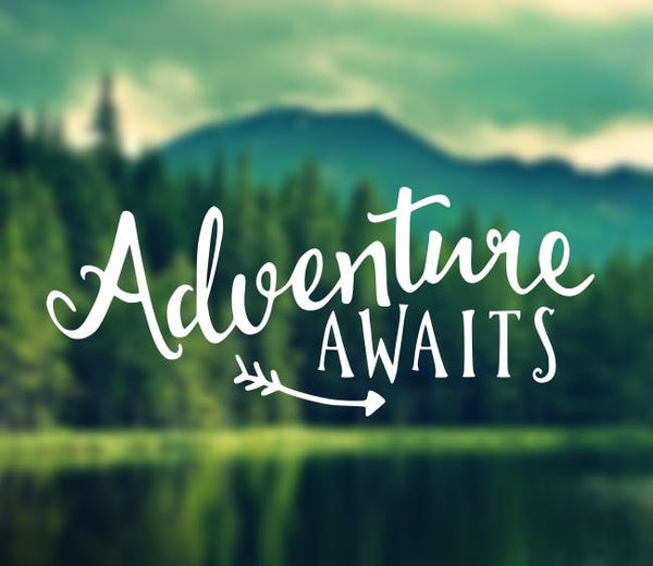 Decal - Adventure Awaits Decal - Car Decal, Laptop Decal, Macbook Decal, Ipad Decal