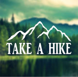Decal - Take A Hike - Mountians Decal, Car Decal, Laptop Decal, Macbook Decal, Ipad Decal