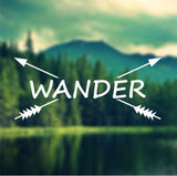 Decal - Wander - Crossbows Decal, Car Decal, Laptop Decal, Macbook Decal, Ipad Decal