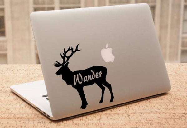Decal - Wander - Elk Decal, Car Decal, Laptop Decal, Macbook Decal, Ipad Decal