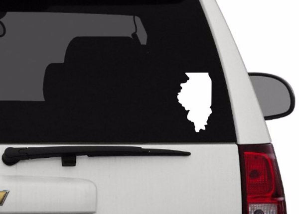 Decal - Illinois Decal For Car, Laptop, Macbook, Ipad - Illinois Sticker