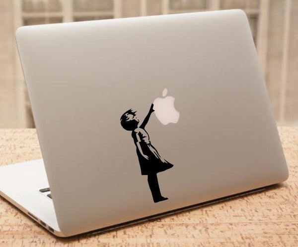 Banksy Macbook Decal, Balloon Girl Inspired Laptop Decal, Banksy Macbook Sticker