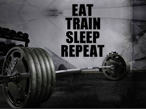 "Motivational Wall Decor - 35"" x 27"" Home Gym Motivational ""Eat, Train, Sleep, Repeat"" Wall Decal"