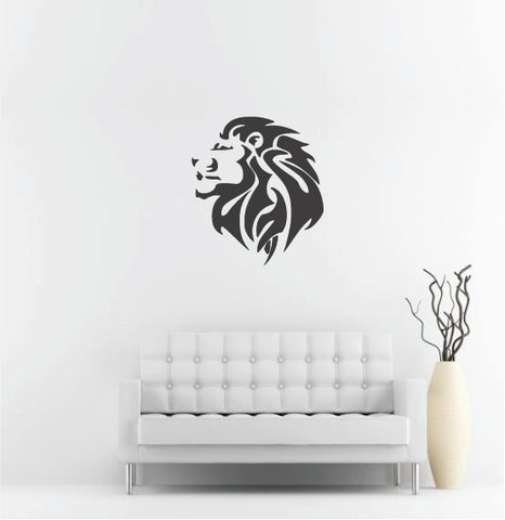 "Lion Head Wall Decal - 30"" x 27"" Lion Head Vinyl Wall Decal L6"