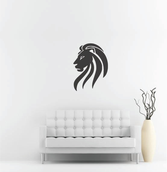 Lion Head Wall Decal - 37