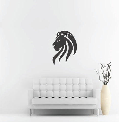 "Lion Head Wall Decal - 37"" x 27"" Lion Head Vinyl Wall Decal L2"