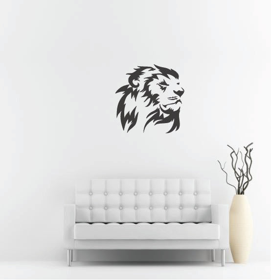 Lion Head Wall Decal - 27