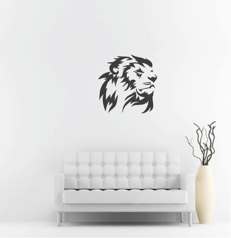 "Lion Head Wall Decal - 27"" x 27"" Lion Head Vinyl Wall Decal L12"
