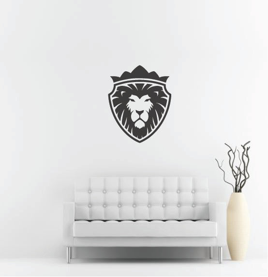 "Lion Head Wall Decal - 33"" x 27"" Lion Head Vinyl Wall Decal L9"