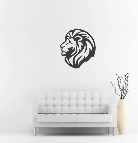 "Lion Head Wall Decal - 30"" x 27"" Lion Head Vinyl Wall Decal L5"