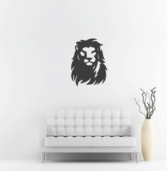 "Lion Head Wall Decal - 36"" x 27"" Lion Head Vinyl Wall Decal L1"