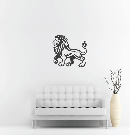 "Lion Wall Decal - 27"" x 29"" Lion Vinyl Wall Decal L7"
