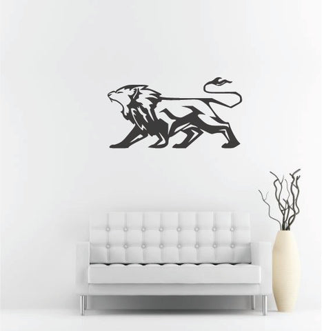 "Lion Wall Decal - 27"" x 51"" Lion Vinyl Wall Decal L8"