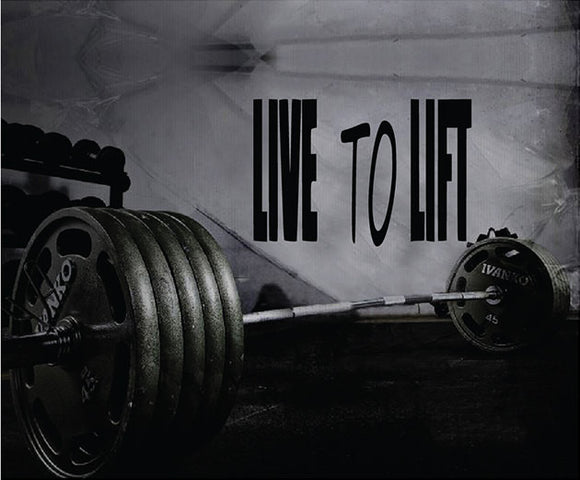 Fitness Motivation Home Gym Wall Decal - Live To Lift Wall Decal