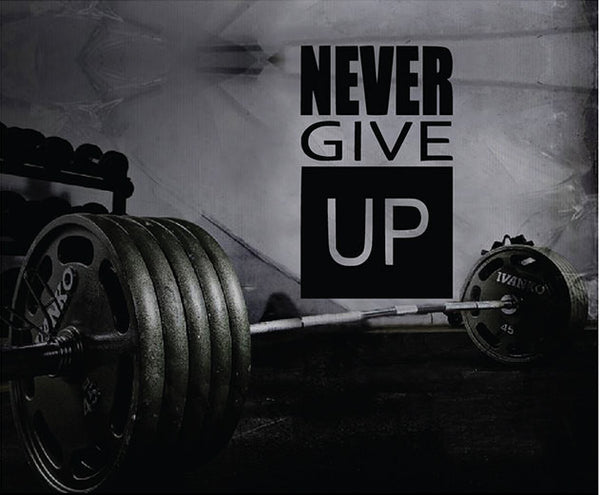 Fitness Motivation Home Gym Wall Decal - Never Give Up Wall Decal