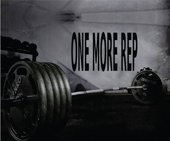 Fitness Motivation Home Gym Wall Decal - One More Rep Wall Decal