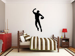 "Baseball Player Wall Decal - 55"" x 27"" Baseball Player Silhouette Vinyl Decal - Baseball Player 16"
