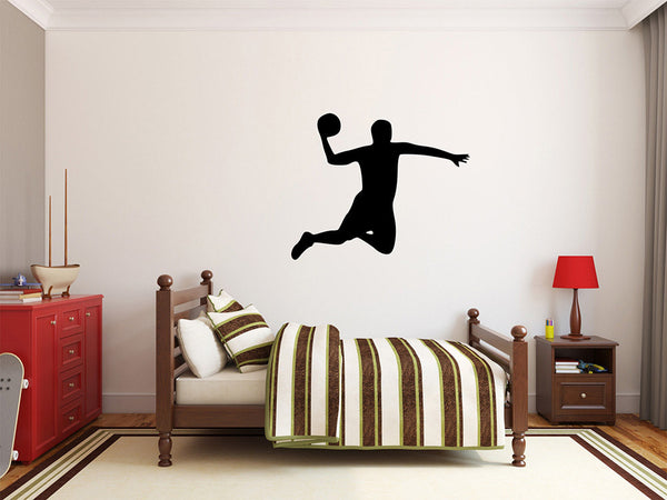 "Basketball Player Wall Decal - 27"" x 33"" Basketball Player Silhouette Vinyl Decal - Basketball Player 7"