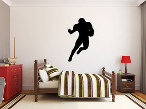 "Football Player Wall Decal - 45"" x 27"" Football Player Silhouette Vinyl Decal - Football Player 2"