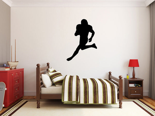 "Football Player Wall Decal - 37"" x 27"" Football Player Silhouette Vinyl Decal - Football Player 10"