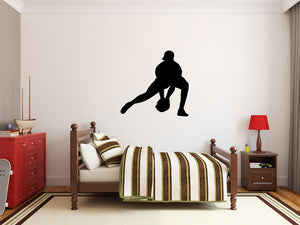 "Baseball Player Wall Decal - 27"" x 28"" Baseball Player Silhouette Vinyl Decal - Baseball Player 6"