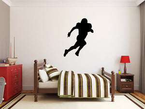 "Football Player Wall Decal - 35"" x 27"" Football Player Silhouette Vinyl Decal - Football Player 4"