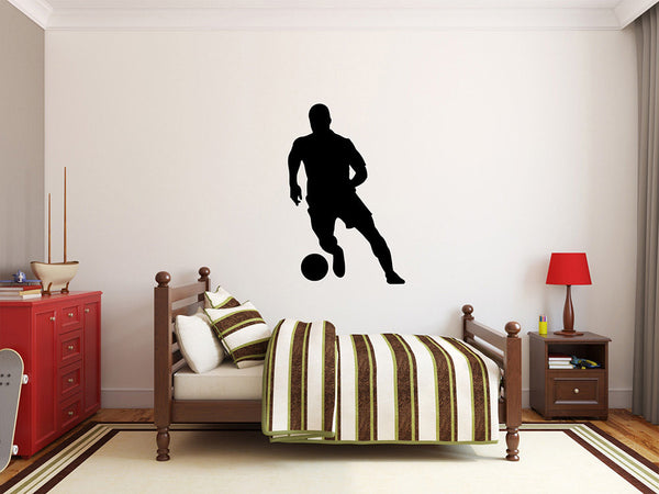 "Soccer Player Wall Decal - 42"" x 27"" Soccer Player Silhouette Vinyl Decal - Soccer Player 9"