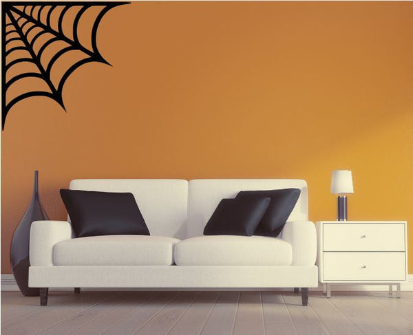 "Halloween Decal - 27"" x 27"" Spider Web Removable Wall Decal"