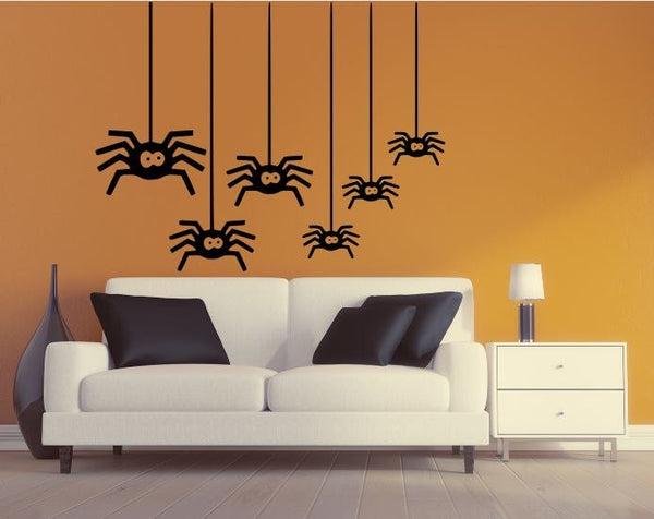 "Halloween Decal - 27"" x 35"" Spiders Removable Wall Decal"