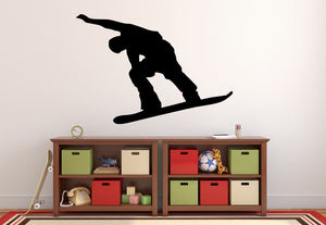 "Snowboarder Wall Decal - 27"" x 39"" Snowboarder Silhouette Vinyl Decal - Snowboarder 17"